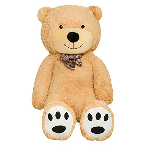 TEDBI Teddybär 200cm | Farbe Hellbraun | Groß XXL Teddy Bear Gigant Plüschbär Stofftier Kuscheltier Plüschtier Größe XL Braunbär Teddi Bär