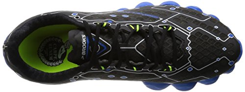 Brooks Neuro scarpe da corsa, Metallic Charcoal/Electric Blue Lemonade/Nightlife