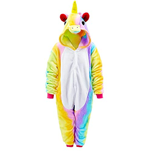 Mmtx pigiameria unicorn tutina onesies, flanella animal character sleepwear nightwear felpa con cappuccio, fancy dress up per playsuit costume di halloween abbigliamento, pigiama natal
