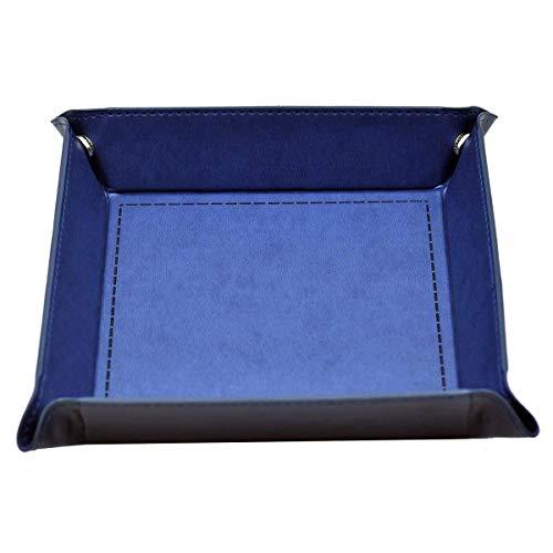 Dice Rolling Tablett, PU Leder Faltbare Würfel Tray Catchall Ändern Key Wallet Coin Box Tray für Change Key Wallet Münze und alle Würfel oder Brettspiele (Leder-würfel-box)
