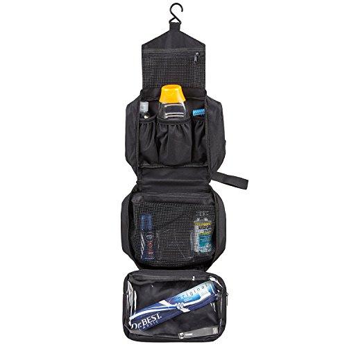ae3deed7e SWISSONA neceser premium, impermeable y colgante, ideal para viajar, malla  y cierre de