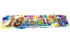 Idea Regalo - takestop® Set 2 Pezzi Festone FESTONI Scritta 18 Anni Multicolore Festa Compleanno 100cm Bimbi Party
