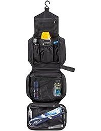 SWISSONA Premium Kulturbeutel, wasserdicht und aufhängbar, ideal für Reisen, Netz- und Reißverschluss-Fach | mit 2 Jahren Zufriedenheitsgarantie | Kulturtasche, Kosmetiktasche, Toiletry Bag