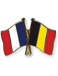 Yantec amitié Spin France Belgique broches Broche Double Drapeau npin