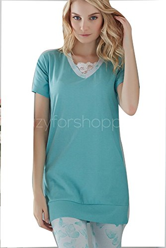 pigiama donna infiore primaverile Azzurro