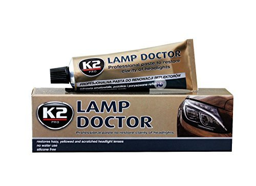 Preisvergleich Produktbild K2 Lampen Doctor, Scheinwerfer Aufbereitung, repariert zerkratztes Glas, Schleifpaste, Acryl Plexiglas Reparatur, Headlight Restoration - lässt trübe Scheinwerfer wieder scheinen