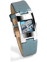 Miss Sixty Just time SDA003 - Reloj de mujer de cuarzo, correa de piel color azul claro