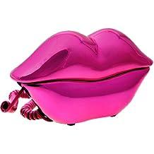 TOOGOO(R) Telefono con Cable Diseno de Sexy Labio Lustroso Color Rosa Oscuro