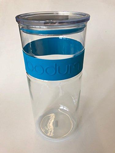 Bodum Presso Barattolo in vetro (aria Poeta silicone chiusura, forno a microonde/lavabile in lavastoviglie, 2,5litri, colore: blu)