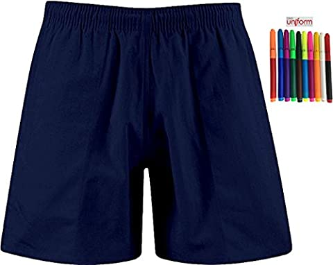 ONLY Uniform Uni Gym Schule PE Spiele Sport Shorts mit Marker Set Gr. 46/48, navy (Navy Pt Uniformen)