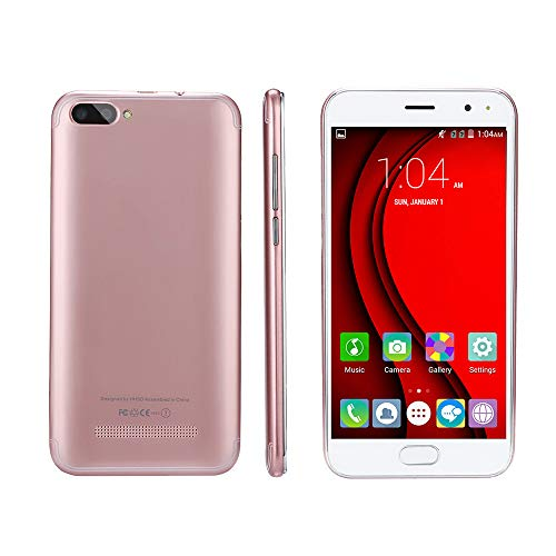 Momola - Teléfono móvil con Doble SIM (5,0 Pulgadas, Android 5.1, Pantalla Completa gsm/WCDMA, Pantalla táctil, WiFi, Bluetooth, GPS, 3G), Oro Rosa, 12,7 cm