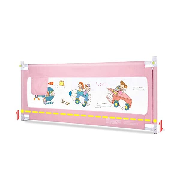 Playpens Crib Guardrail Baby Shatter-resistant Fence Large Bed 1.5 Meters Children Against Bedside Baffle (Size : 1.5m) Playpens ★ high quality non-toxic materials,Size:150cm ★ Vertical lift structure: no space is occupied, and it is more convenient to enter and exit. Push the fence down at the push of a button ★ height adjustment: can be adjusted according to the thickness of the mattress, so that the bed is close to the mattress. Avoid gaps between the mattress and the guardrail to prevent your child from falling 1