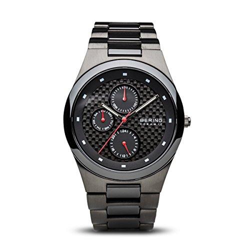 Bering Time - 32339-782 - Montre Homme - Quartz Analogique - Bracelet différents Matériaux Noir