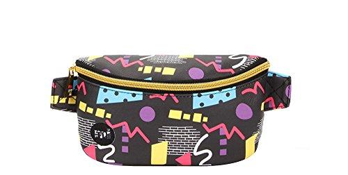 Mi-Pac Mi-Pac Bum Bag 80's Pop - Black Sac Banane Sport, 22 cm, Noir (Black)