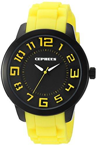 CEPHEUS Damen-Armbanduhr XL Analog Quarz Silikon CP604-623C