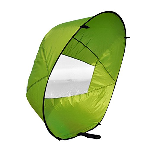 Einfach Tragbar, 42'' Downwind Wind Paddle Instant-Popup Kayak Sail, Kayak Wind Sail, Kayak Accessorie - Grün