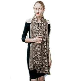 Mujer Niña Encaje Color Sólido Extra Grande Bufanda Wrap Chales Estolas