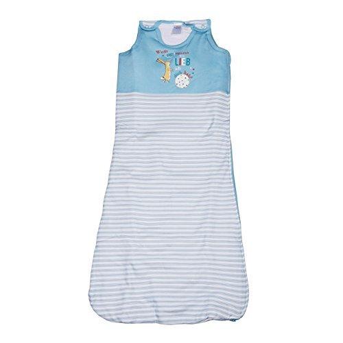 Baby Schlafsack 'Weißt du eigentlich wie lieb ich dich hab' in Rosa oder Blau, Größe:70;Farbe:blau