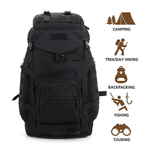 Imagen de hisea  militares al aire libre senderismo  de tela de nylon pack de asalto táctico impermeable bolsa de viaje deportivo 60l con diseño ergonómico trajes para camping caza trekking viajes