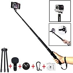 Foneso Selfie Stick Con Bluetooth Wireless Remote Shutter Aggiustabile Treppiede per Smartphone