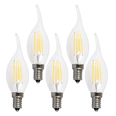 XYD® LED Glühbirne Lampe 4W E14 LED Birne als Kolbenlampe Nicht Dimmbar 40W Entspricht Glühlampe Warmweiß 2700K