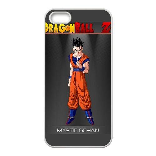 Mystic Gohan Dragon Ball Z coque iPhone 4 4S Housse Blanc téléphone portable couverture de cas coque EOKXLKNBC22721