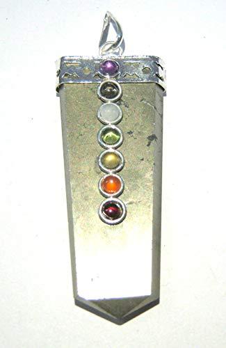 Colgante de pirita dorada natural chakra CABOCHON de cristal curativo para hombres y mujeres, regalo de energía positiva moda Wicca joyería armónica protectora accesorio
