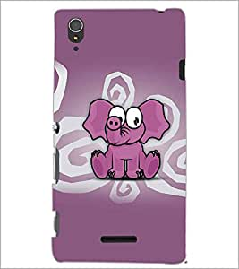 SONY XPERIA T3 BABY ELEPHANT Designer Back Cover Case By PRINTSWAG