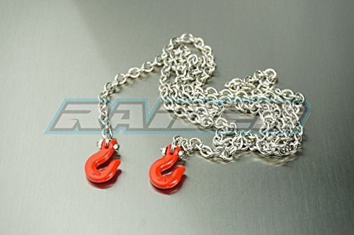 ale Accessory RC Crawler Steel Tow Rope Chain with Hooks for RC Crawler Truck SCX10 D90 Wraith Tundra CC01 TRX-4 ()