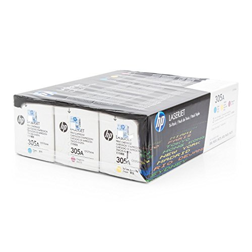 HP LaserJet Pro 400 color M 475 dn - Original HP / CF370AM / 305A Toner Multipack CYM( 3 Stück )