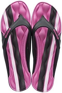 Rider - Sandalias de Caucho para mujer multicolor negro y rosa 35.5