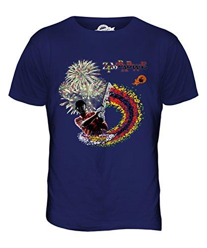 CandyMix Simbabwe Cricket Herren T Shirt Navy Blau
