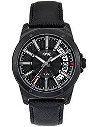 KA:OZ A76168SS5I - Reloj para hombres, correa de cuero color negro