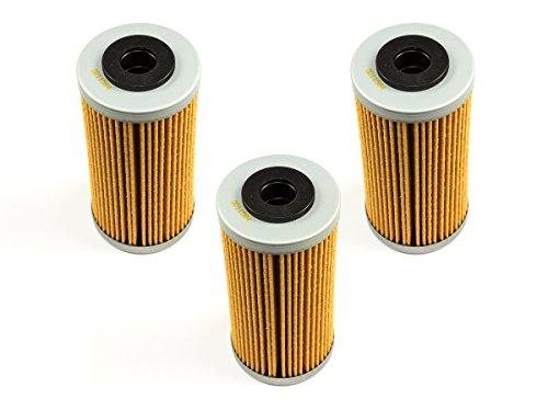 Pack de 3 filtros de aceite de moto HF611