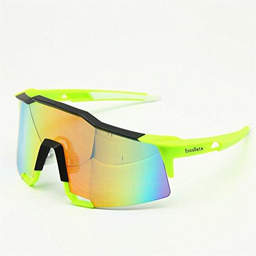 Rad-Brille 2LS Kit, Fahrrad-Sonnenbrillen Anti-UV, Road Racing Outdoor Sports(gelb)