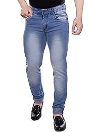 Culprit Slim Fit Cotton Dobby Dark Blue Mid Rise Light Fade Mens Jeans-Waist-32 Inch
