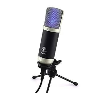 MCU-01-c USB Studio Mikrofon Rap, Homerecording, Hiphop für Window & MAC Gesang Hyper-Nierencharakteristik Kondensatormikrofon Frequenzgang 30-20000Hz