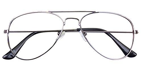 Fuyingda Jungen Mädchen Vintage Pilotenbrille Metallrahmen Nerdbrille Sonnenbrille Kinder Retro...