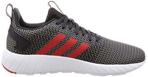 adidas Questar BYD, Sneakers Basses Homme Gris (Carbon/core Red/grey Three)