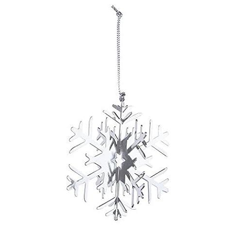 Silber Groß zum Aufhängen Schneeflocke Weihnachtsbaum