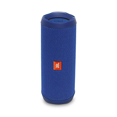 JBL Flip 4 Bluetooth Box in Blau – Wasserdichter, tragbarer Lautsprecher mit Freisprechfunktion & Sprachassistent – Bis zu 12 Stunden Wireless Streaming mit nur einer Akku-Ladung