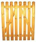 StaketenTür 'Standard' 100x120/120 cm - gerade - kdi / V2A Edelstahl Schrauben verschraubt - aus frischem Holz gehobelt - gerade Ausführung - kesseldruckimprägniert