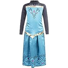 Elsa - Vestido de coronación de la Reina del Hielo con falda para niña, color turquesa, 3-4 años, (Katara 1688)