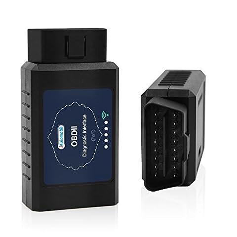 iAutomobil ELM327 WiFi OBD2 Scanner: Car Diagnostic Tool Adapter for