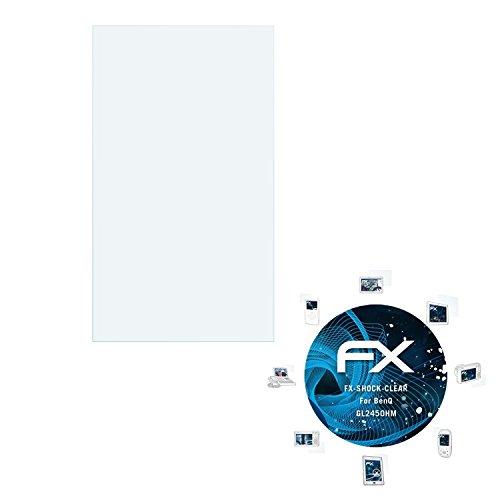 für BenQ GL2450HM Folie - FX-Shock-Clear stoßabsorbierende ultraklare Displayschutzfolie (Benq Digitalkamera)