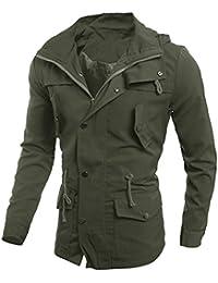 Cebbay Liquidación Chaqueta de Hombre Bolsillo con Cremallera, Gran tamaño, Moda, Casual Sudadera de diseño Slim fit