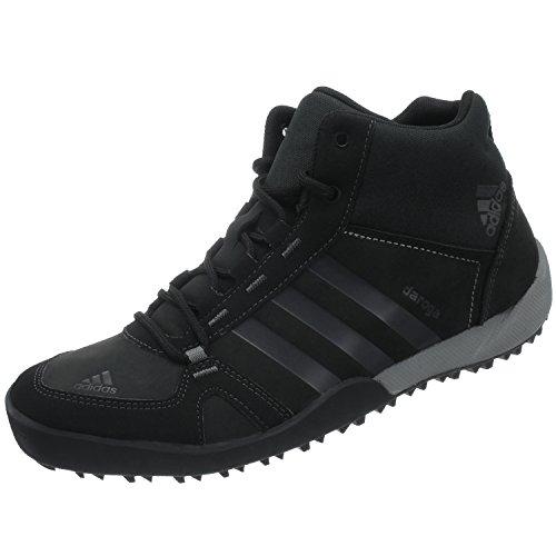 Daroga Black Black Leather Adidas Daroga Adidas Shoes Adidas Daroga Mid Mid Leather Shoes ZO1Bq