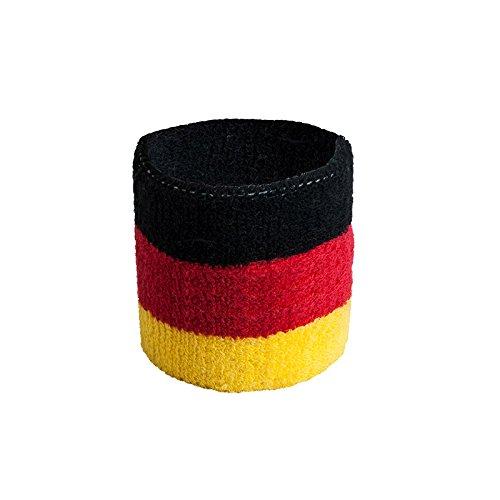 Colour-Bags Home & Living Fan-Armband/Schweißband aus Frottee, Pulswärmer für die WM 2018, 1...