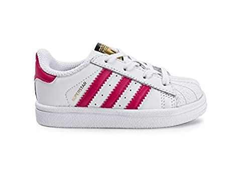 Adidas Schuhe Superstar I Unisex running white-bold pink-running white (BB9077), 20, weiss