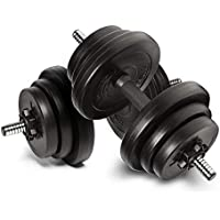 Anchor 20kg Adjustable Dumbbells Weights set for Men Women, Dumbbell hand weight Barbell Perfect for Bodybuilding fitness weight lifting training home gym equipment free weights